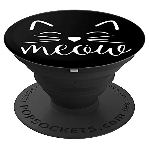 Meow Cute Cat Face Funny Costume Gadget for Cat Lovers - PopSockets Grip and Stand for Phones and Tablets -