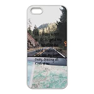 Road Trip Travel Quote Cell Phone Case for Iphone 5s