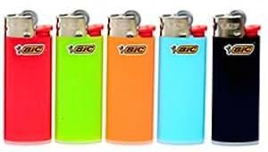 Lot of 5 Bic Mini Multi-colour Lighter Lot