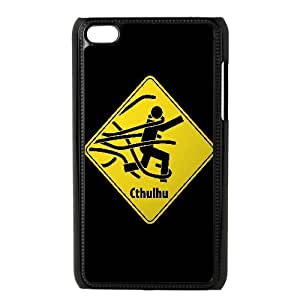Cthulhu Warning Funny iPod Touch 4 Case Black Decoration pjz003-3803226