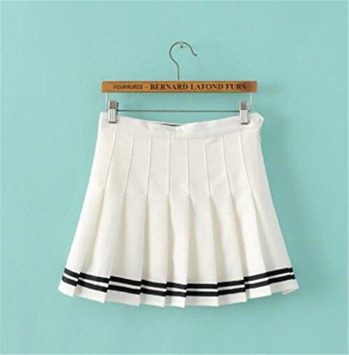 Skirt Jupe Mini Femelle Court Plisse en Universite Fashion Jupe Sport Basique Femme Dcontracte Jupe Jupe Jupe White Haililais t wFT0qB0