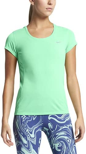 Nike Dri Fit Contour Shortsleeve T shirt Femmes Bleu Clair