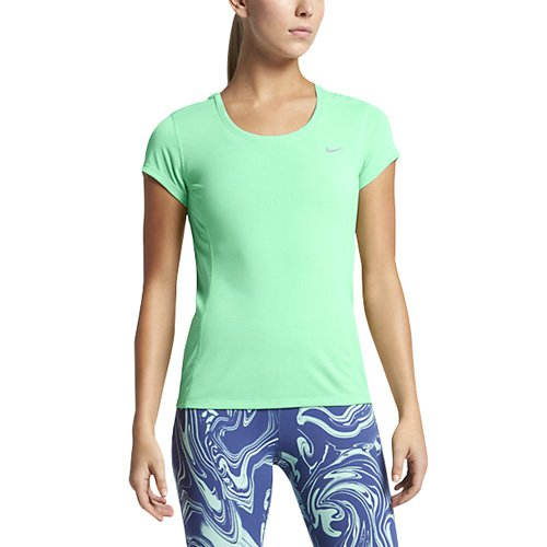 Top Dri Fit Short Women's Glow Nike Green Tank Contour Sleeved 0wTpxq5