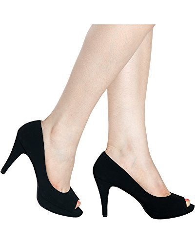 City Classified Comfort Women's Comfort Bree Open Toe Mary Jane Pump (9 B(M) US, Black NBPU) (Mary Platform Janes Open Toe)