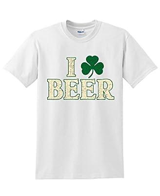 Feelin Good Tees I Clover Beer Men's Graphic Irish Funny St Patricks Day T Shirt