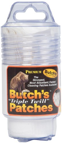 Butch's 2-1/2-Inch Square-45-58 Cal Triple Twill Cleaning Patches