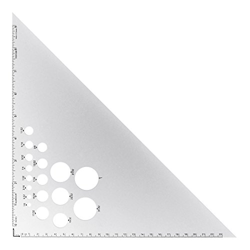 Alumicolor Aluminum Calibrated Triangles 10 in. 45/90