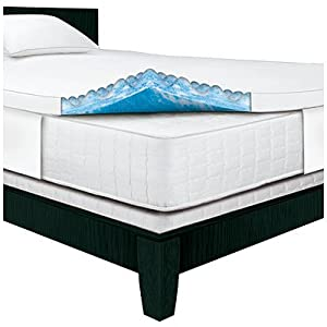 serta rest queen 3 inch gel memory foam mattress topper 60 x 80 x 3 - Serta Bed Frame