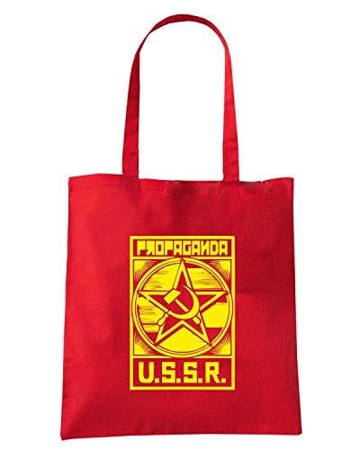 Shopper Speed VINTAGE Rossa SOVIET TCO0108 Shirt PROPAGANDA Borsa APEPr