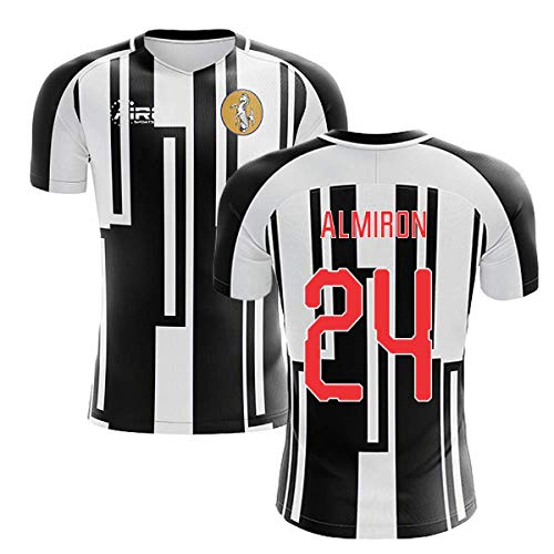 - Airosportswear 2019-2020 Newcastle Home Concept Football Soccer T-Shirt Jersey (Miguel Almiron 24)
