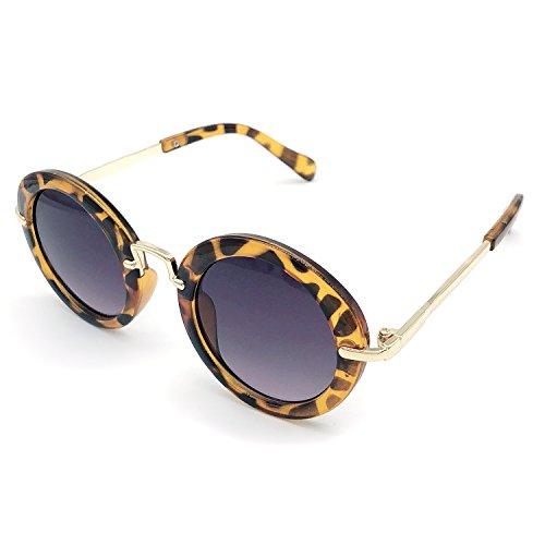 Elesa Miracle Age 3-12 Girl Kids Toddler UV Protection Sunglasses (Leopard Print) ()