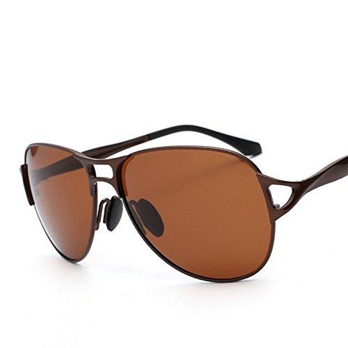 LXKMTYJ Modische einzelnen Offset optische Sonnenbrillen Herren Sonnenbrillen fahren Fahrer Spiegel männliche Persönlichkeit Kröte, Kaffee/Tea-Rack
