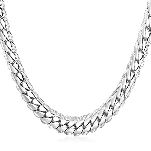 Platinum Plated Necklace With