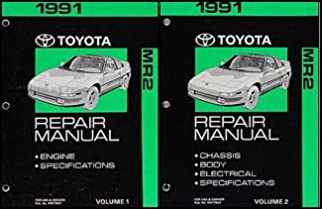 1991 toyota mr2 repair shop manual original 2 volume set toyota rh amazon com Toyota MR2 Spyder Toyota Supra