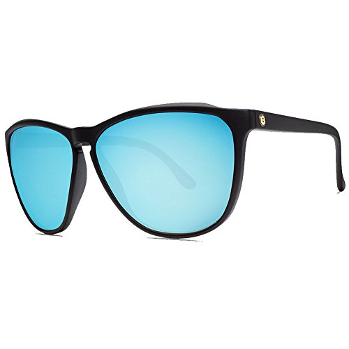 Electric Encelia Sunglasses, Matte Black-Ohm Sky Blue Chrome, OS by Electric