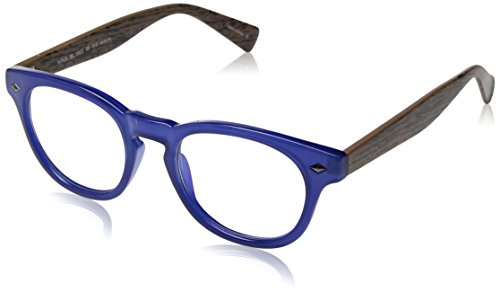 BluVue Unisex BL 1003 Nova Rectangular Blue Light Blocking Computer Tablet Smartphone Screen Reading Glasses, Cobalt Frame, Diopter 2.0 ()