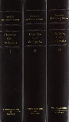 Derecho Civil de España (3 volúmenes): Amazon.es: De Castro Y ...