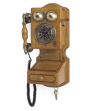 Amazon.com : Crosley CR92 Country Kitchen Wall Phone II, Oak ...