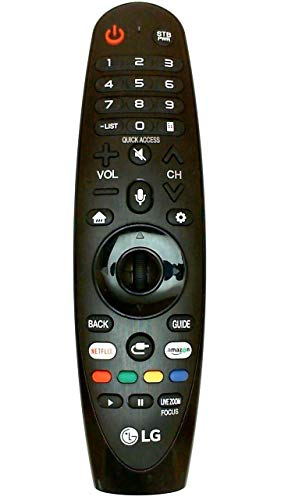 OEM LG AN-MR18BA Magic Remote Control with Netflix and Amazon Buttons Voice Mate for All 2018 4K UHD Smart LG Televisions OLED65W8PUA OLED77W8PUA OLED43W8PUA OLED49W8PUA OLED50W8PUA OLED55W8PUA (Best Universal Remote Controls 2019)