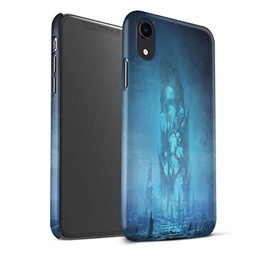 Remnants Collection - Official Chris Cold Phone Case/Matte Hard Back Snap-On Cover for Apple iPhone XR/Remnant Design/Alien World Cosmos Collection