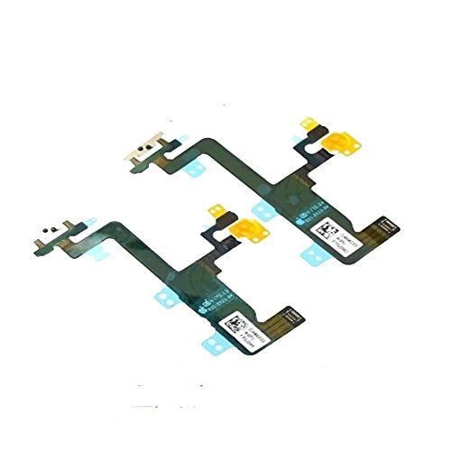 Mic Pre Module (Switch Power On / Off Power Button Flash Light Mic Flex Cable Replacment Part with Brackets Pre-installed Part for Iphone 6 4.7)
