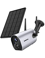 Security Camera Wireless Outdoor, Solar Powered Wireless Surveillance Camera, 1080P Night Vision/Waterproof, PIR Motion Detection, 2-Way Audio, Compatible with Cloud Storage/SD Slot…