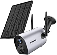 Security Camera Wireless Outdoor, Solar Powered Wireless Surveillance Camera, 1080P Night Vision/Waterproof, P