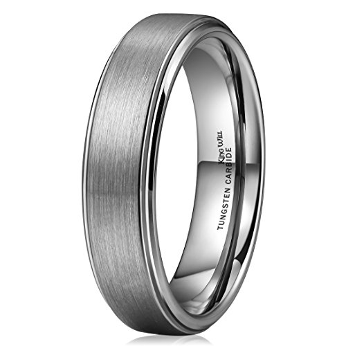 Used, King Will Basic 6mm Tungsten Carbide Wedding Ring Brushed for sale  Delivered anywhere in USA
