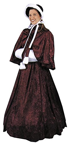 UHC Women's Victorian Lady Outfit Adult Fancy Dress Dickens Era Costume, M (10-12)