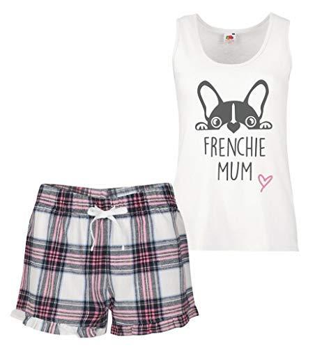 Ruffles Tartan D Pink Pijama Set Mom Frenchie UxBwAA