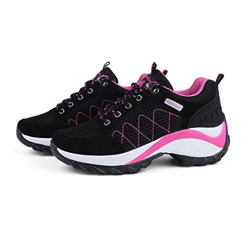 Sneakers Mode Fitness de Course de Sport Basses Baskets Chaussure Femme Femme Gym Baskets Running Compensé UzCRRw