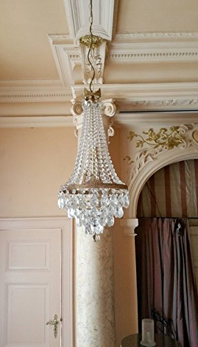 antique french Sac a perl, antic chandelier Kk74
