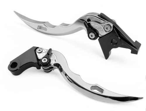 Adjustable Motorcycle Levers (Pair Motorcycle Parts Clutch Lvers Brake Levers Sharp Blade levers Set Silver Fit for TRIUMPH DAYTONA 675 2006-2012 (F-35/T-333))