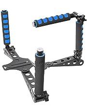 Neewe DSLR Rig Supporto Spalla per qualsiasi Fotocamera e Videocamera DSLR, Blu