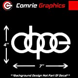 Comrie Graphics Dope Audi Logo Sticker Decal #DL1