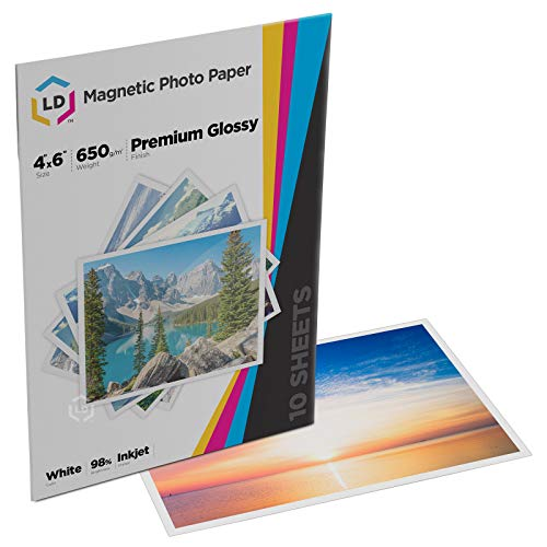 - LD Glossy Inkjet Magnetic Photo Paper 4x6 (10 Sheets)