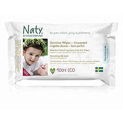 Nature Babycare - Toallitas desechables, 56 unidades