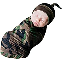 Dreamyth 2Pcs New Newborn Infant Baby Swaddle Blanket Sleeping Swaddle Muslin Wrap+Headbands