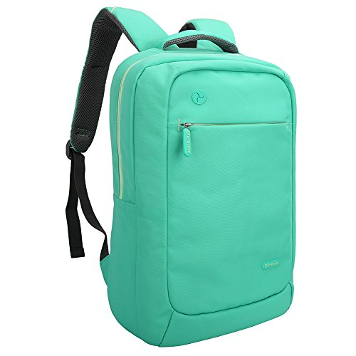 Laptop Backpack Evecase Lightweight Nylon Water Resistant Multipurpose Laptop Backpack fits up to 15.6inch Laptop Green