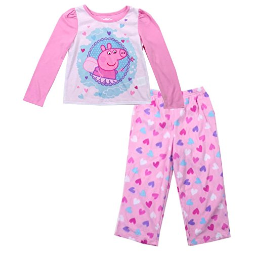 PEPPA PIG Toddler Girls Pink Fleece Pants Knit Top Sleepwear Pajama PJ's Set Sizes: 2T-5T (2T) for $<!--$24.95-->