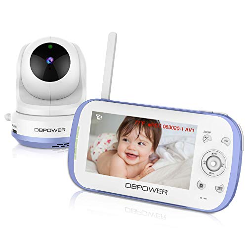 AXBON Wireless Video Baby Monitor with Infrared Night Vision Camera (2.4 inch LCD) Two-Way Audio,Temperature Monitoring, Rapid Recharge Technology and Power Save Mode