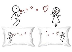 Human Touch - BURBUJAS DEL AMOR - De El y de ella - Fundas - el regalo de aniversario romántica peculiar, regalo de boda, regalo de San Valentín, o simplemente para elevar una sonrisa.