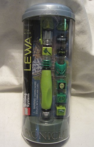 Lego Writing System LEWA Toe of Air Bionicle Build A Lego Pen Bionicle Blue Figure
