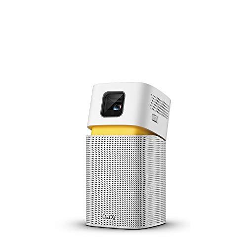 BenQ GV1 – Proyector portátil inalámbrico con Altavoz Bluetooth, USB-C, batería, Wi-Fi, batería, DLP, corrección…