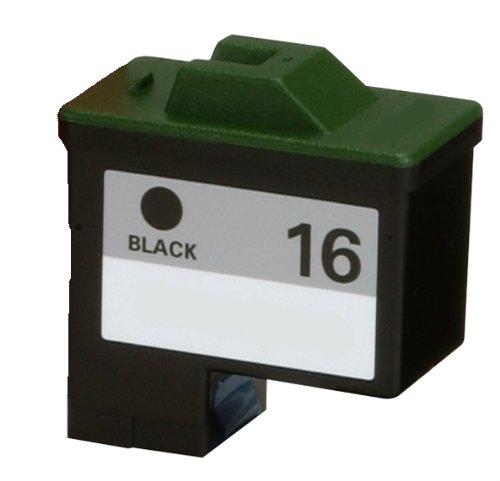HouseOfToners Remanufactured Ink Cartridge Replacement for Lexmark #16 10N0016 (1 Black) (Black Remanufactured Cartridge 10n0016 Inkjet)