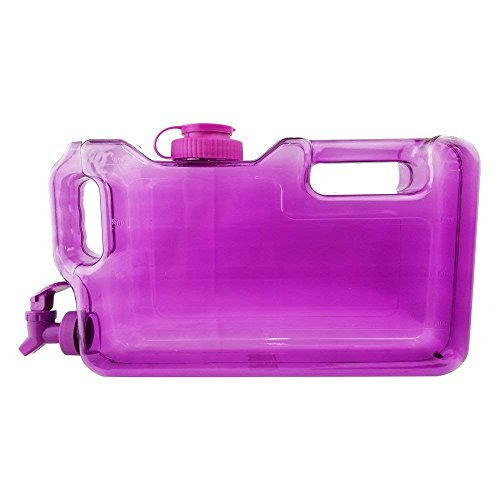 (Leakproof 1-Gallon Refrigerator Water Bottle With Faucet & Screw Cap - Premium Portable Beverage Dispenser, BPA-Free & Compact, Chemical-Free Plastic Fridge Container - Purple)