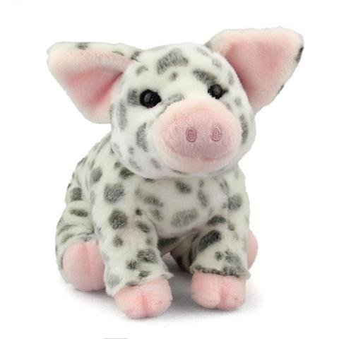 ScienceLAB Small Pauline the Spotted Pig - Plush Stuffed Farm Animal