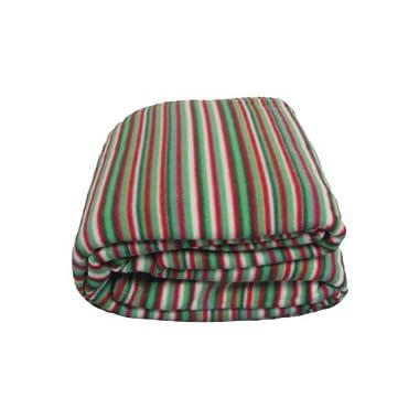 DaDa Bedding BL964212 Striped Polar Fleece Blanket, King, Green