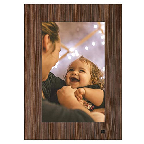 NIX Lux Digital Photo Frame 10 inch X10J, Wood. Electronic Photo Frame USB SD/SDHC. Digital Picture Frame with Motion Sensor. Control Remote and 8GB USB Stick Included -