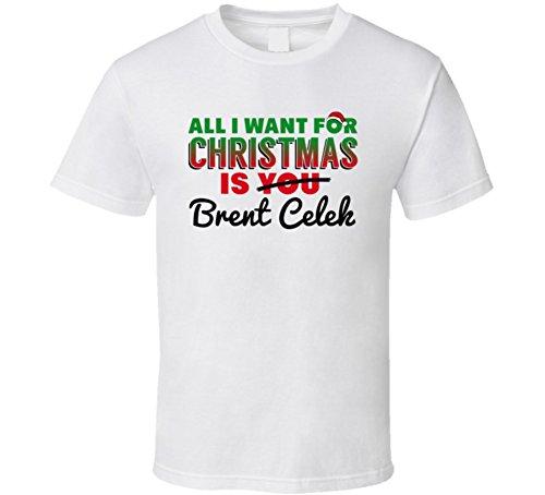 Tshirtshark All I Want for Christmas is Brent Celek Philadelphia Football Fan Gift T Shirt XL White